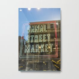 New York Neon Sign | Canal Street Manhattan Bridge USA America Photo Print | pastel - travel - photography - Art print Metal Print