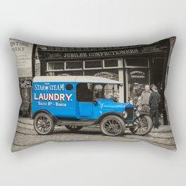 Steam Laundry Van Rectangular Pillow