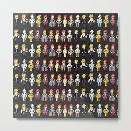Bowie pixel characters Metal Print