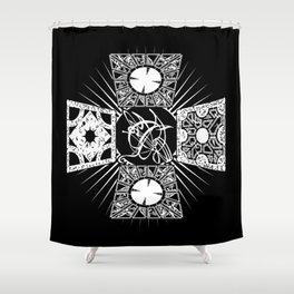Lament Configuration Puzzle Box Shower Curtain