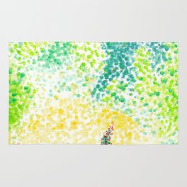 Abstract Forest Watercolor Rug