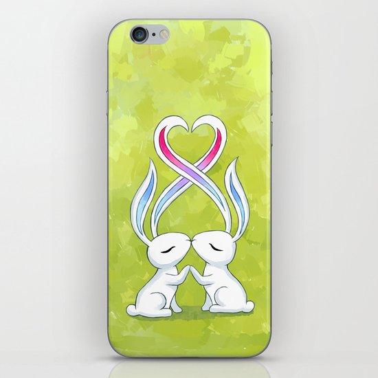 Bunny Kiss iPhone & iPod Skin
