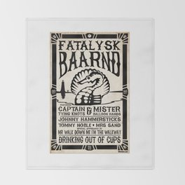 Fatalysk Baarnd Concert Poster Throw Blanket