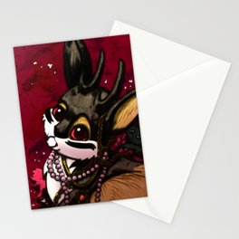 Jackalope, Pearls, and Roses Stationery Cards