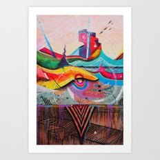 Energyscape Art Print