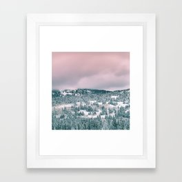Blush Sky in Woodland Heights Framed Art Print