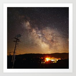 The Salty Raven of Cape Meares Milky Way Art Print