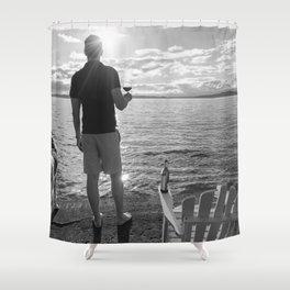 Life Seaside Shower Curtain