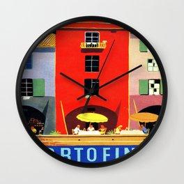 Vintage poster - Portofino Wall Clock