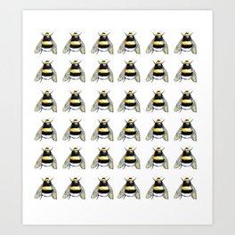 Bumble bee watercolor Art Print