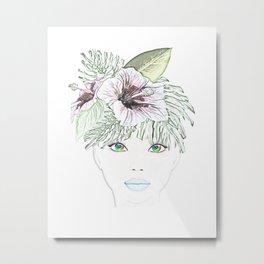 TROPICAL GIRL Metal Print