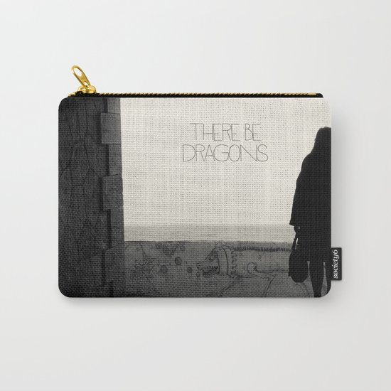 There Be Dragons Carry-All Pouch