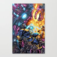thanos Canvas Prints featuring Thanos Vs  by MonsterBox