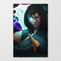 legend of korra Canvas Prints featuring Korra by Nicole M Ales