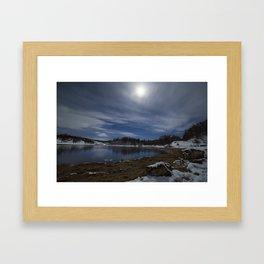 Moonlit Loch Framed Art Print
