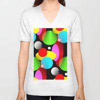 balloons V-neck T-shirts featuring Balloons by Artisimo