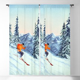 Skiing The Clear Leader Blackout Curtain