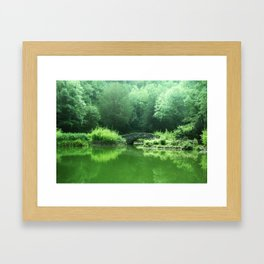 Spring Greens Framed Art Print