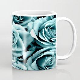 Blue Turquoise Roses Coffee Mug