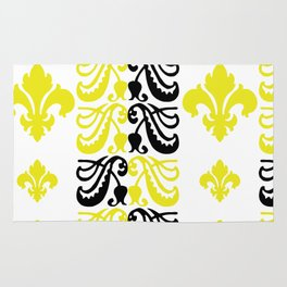 Fluer de Lis Custom Yellow Rug
