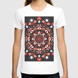 Mandala with autumn colors T-shirt