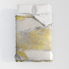Silver and Gold Marble Design Comforters