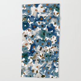 Georgia Floral Blue Beach Towel
