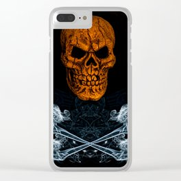 Skull And Crossbones 1 Clear iPhone Case