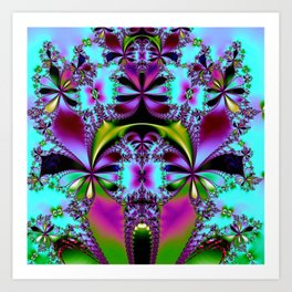 Tropical Foliage Purple Art Print