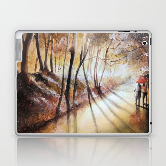 Break in the clouds - watercolor Laptop & iPad Skin