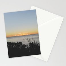 california sunrise come on and wake me up  Stationery Cards