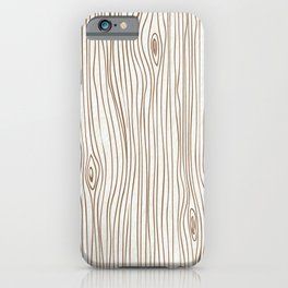 Wood Grain - Brown iPhone Case