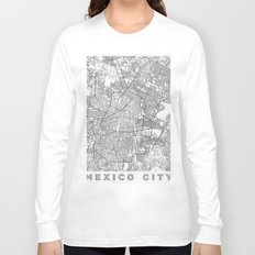 Mexico Map Line Long Sleeve T-shirt