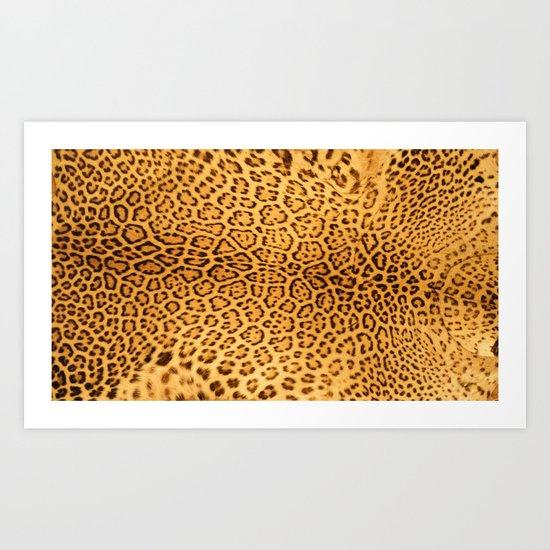 Brown Beige Leopard Animal Print by katelcardsnmore