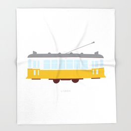 Lisbon Tram Throw Blanket
