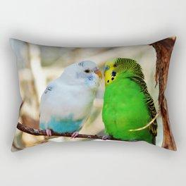Budgie Friends Rectangular Pillow