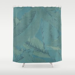 Faded Palms Pattern Shower Curtain
