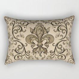 Vintage Fleur-de-lis ornament  Rectangular Pillow