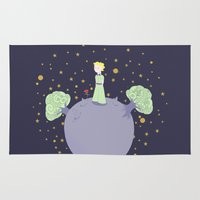 the little prince Area & Throw Rugs featuring The little prince by Pendientera