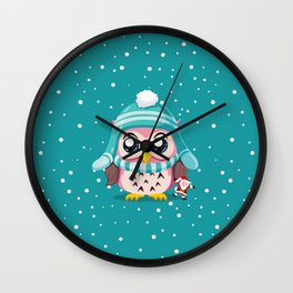 Owl Get A Holiday Wall Clock