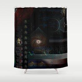 Engulfing the Iris Shower Curtain
