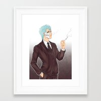 bleach Framed Art Prints featuring Bleach: Grimmjow by Mattie