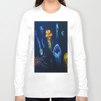 jelly fish Long Sleeve T-shirts featuring Jelly-Jelly-Fish by Fknjedi1