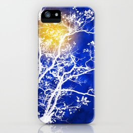 Blue Tree Art iPhone Case