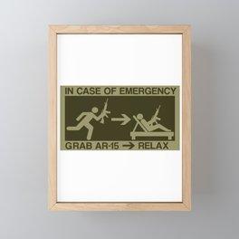 Emergency Prepper Gift Survivalist SHTF AR-15 Gift Framed Mini Art Print