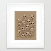 kittens Framed Art Prints featuring Kittens by Antracit