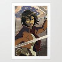 mikasa Art Prints featuring Mikasa by Marco