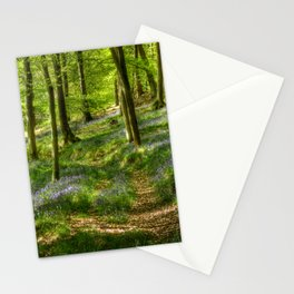 Bluebells and Beech Stationery Cards