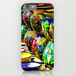 Talavera Pottery Jars for Sale in New Mexico iPhone Case
