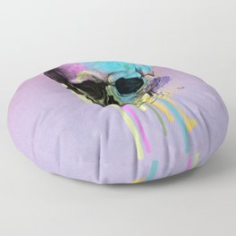 skull in purple and dripping  Floor Pillow